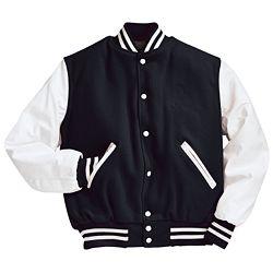 Black and White Varsity Letterman Jacket