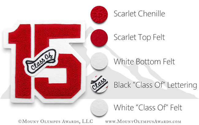 Varsity Letterman Jacket Class Of Number Patch