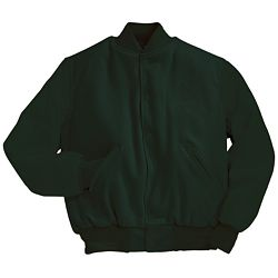 Solid Forest Green Varsity Letterman Jacket