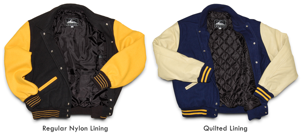 Lining Options for Varsity Letterman Jackets