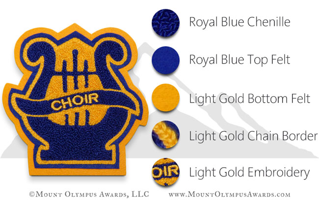Varsity Jacket Lyre 1 Chenille Music Patch