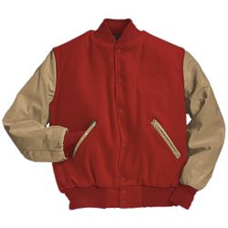 Scarlet Red and Cream Varsity Letter Jacket