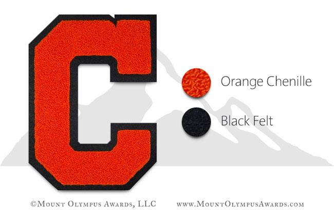 "6/"" inch Tall Red Orange Block Letterman/'s Letter T Felt Patch"