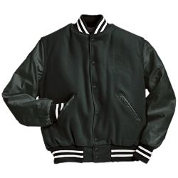 Solid Forest Green Varsity Jacket with White Stripes
