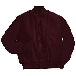 Solid Maroon Varsity Letterman Jacket