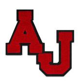 Single Felt 2 Letter Staggered Chenille Varsity Letter Monogram AJ