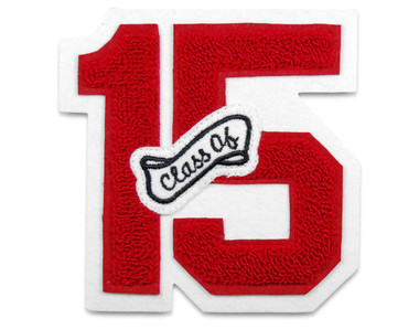 """3"""" Double Felt Letterman Jacket Number with """"Class Of"""" Insert"""