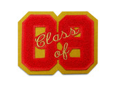 "3"" Double Felt Letterman Jacket Number with ""Class of"" Script Embroidery"