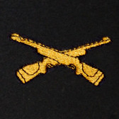 Crossed Rifles Embroidered Swiss Insert