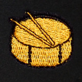 Drums Embroidered Swiss Insert
