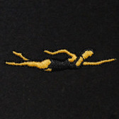 Female Swimmer Embroidered Swiss Insert