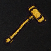 Gavel Embroidered Swiss Insert