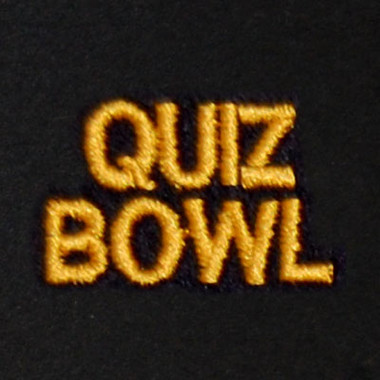 Quiz Bowl Embroidered Swiss Insert