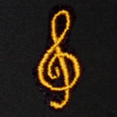 Treble Clef Embroidered Swiss Insert