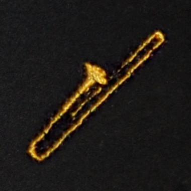 Trombone Embroidered Swiss Insert