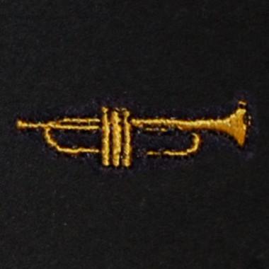 Trumpet Embroidered Swiss Insert