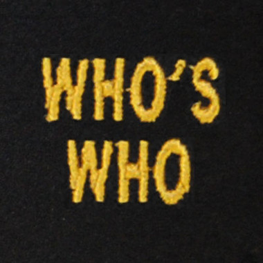 Who's Who Embroidered Swiss Insert