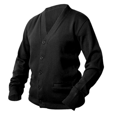 Black Letterman Sweater
