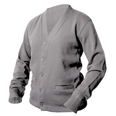 Heather Grey Letterman Sweater