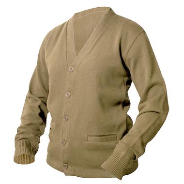 Khaki Letterman Sweater