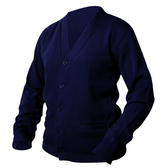 Navy Blue Letterman Sweater