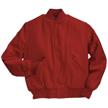 Solid Scarlet Red Varsity Letterman Jacket