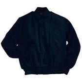 Solid Dark Navy Varsity Letterman Jacket