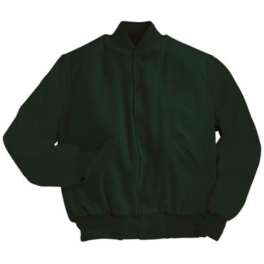 Solid Dark Green Varsity Letterman Jacket