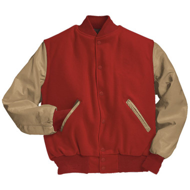 Scarlet Red and Cream Varsity Letterman Jacket