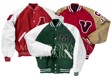 Custom Varsity Letterman Jacket with Raglan Sleeves