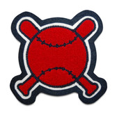 Crossed Bats and Ball Sports Patch