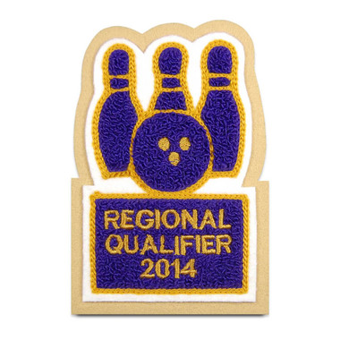 Bowling Pins and Ball Sport Patch