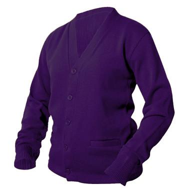 Purple Letterman Sweater