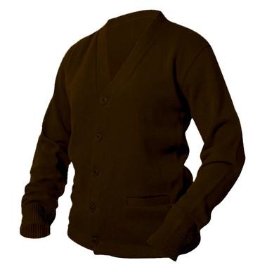 Brown Letterman Sweater