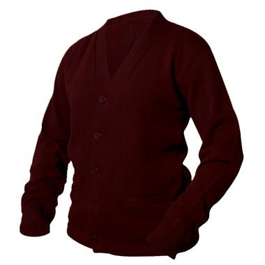 Maroon Letterman Sweater
