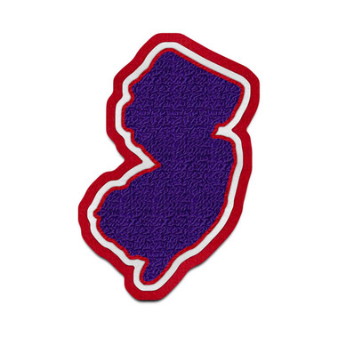 New Jersey State Patch Varsity Jacket Chenille Patches