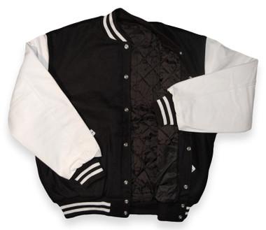 Black and White Varsity Letterman Jacket (Sale)