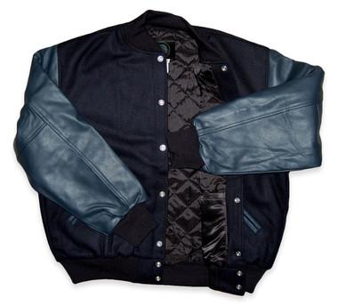 Dark Navy Varsity Letterman Jacket