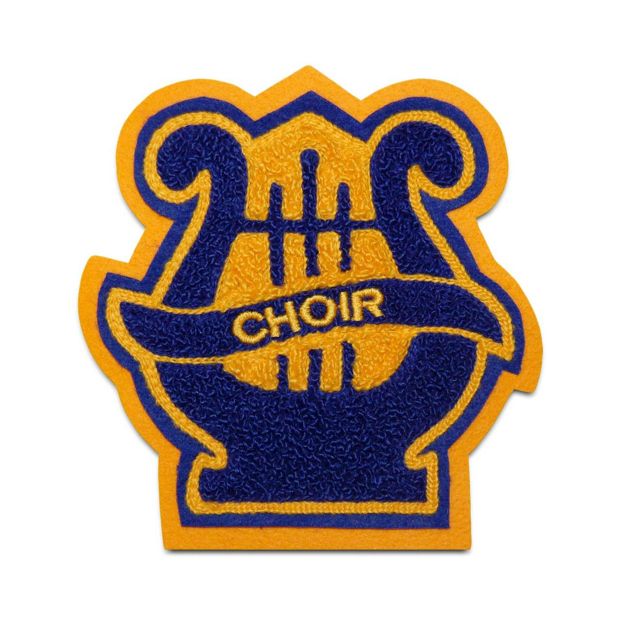 letter jacket patches lyre 1 patch chenille patches made in the usa 350