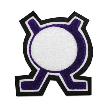 Hockey Sticks and Puck Sports Patch