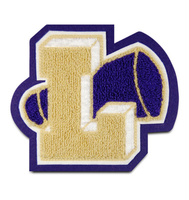 Dimensional Cheerleading Chenille Letter with Megaphone