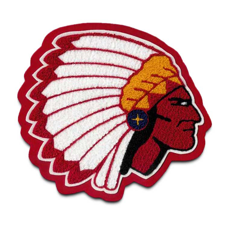 Indian Chief Mascot 2 Chenille Patch