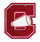 Full Block Cheerleading Chenille Letter with Small Megaphone
