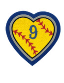 Heart with Baseball/Softball Seams