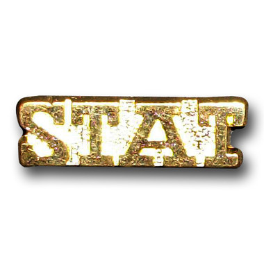 This STAT Varsity Letter pin is perfect for your Varsity Letter