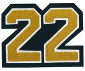 "4"" Double Felt Letterman Jacket Number"