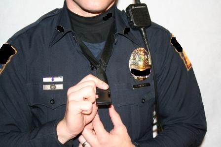This photo shows the PVS installed onto a uniform patrol vest.  It is concealed until you need it.