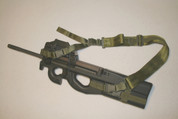 """FN-PS90 Extended Rear Adapter Harness for 2-1/2"""" stock extension, & front P90 Front Adapter complete sling kit."""