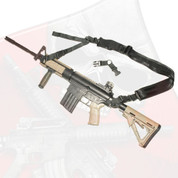 AR-15, AR-10, M4 URBAN-SENTRY Hybrid sling COMPLETE kit with front and rear attachments.