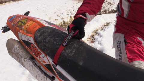 Use the Seat Recovery Grab Strap to lift your bike over obstacles, or off of the ground.